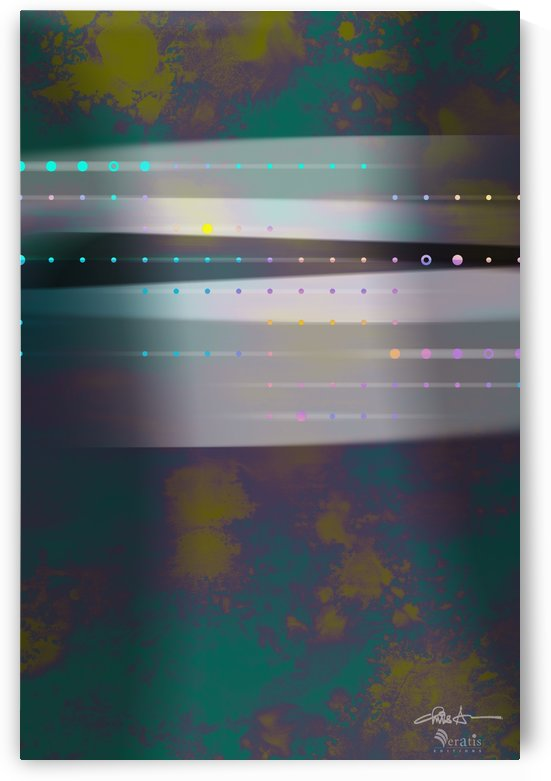 Flux & Stasis in Teal & Olive 2x3 by Veratis Editions