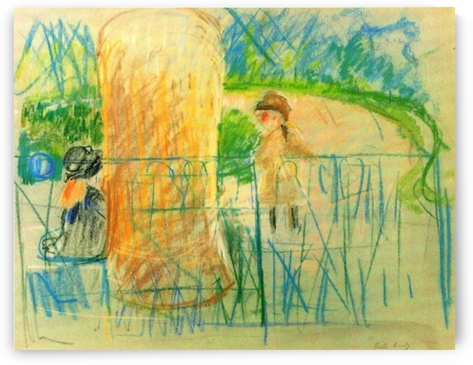 Chair in the garden -2- by Morisot by Morisot