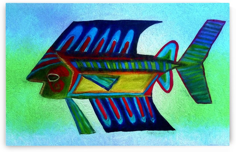 Blue Fish by Aurelia Schanzenbacher Sisters Fine Arts