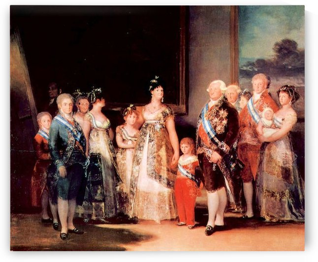 Charles IV of Spain and His Family by Goya by Goya