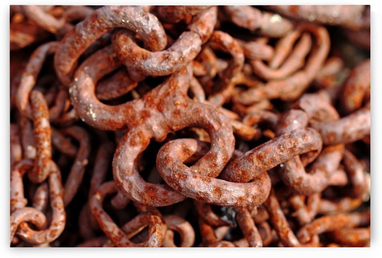 Rusty Chain Abstract by Deb Oppermann