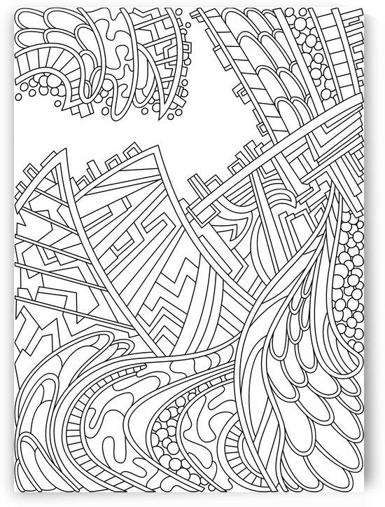 Wandering 01: black & white line art by Dream Ripple