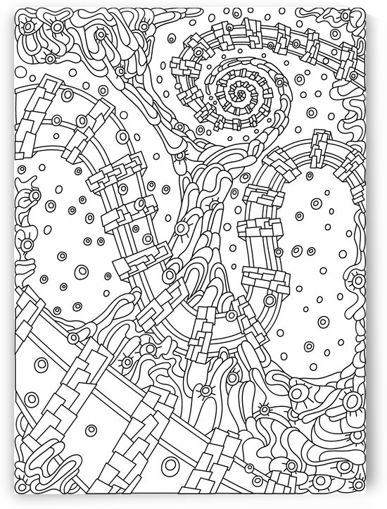 Wandering 02: black & white line art by Dream Ripple