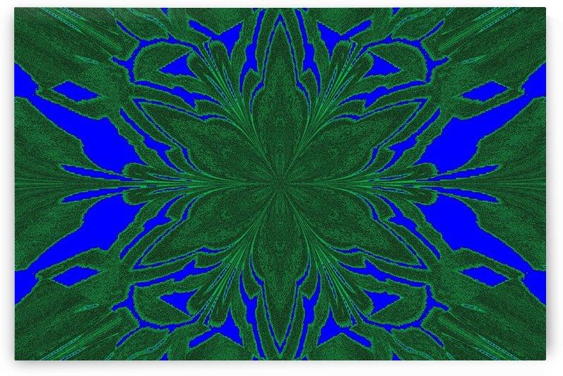 Dark Green in Deep Blue Jasmine by Sherrie Larch
