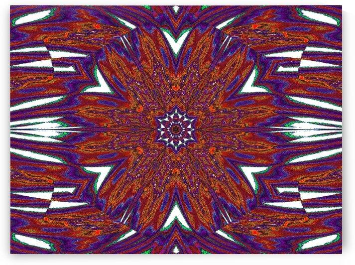 Orange and Purple Plumerias by Sherrie Larch