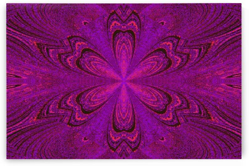 Pink Purple Star Flower by Sherrie Larch