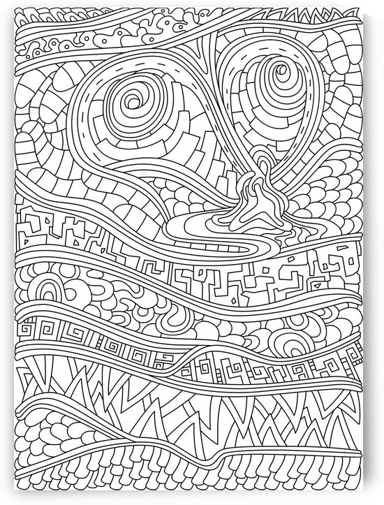 Wandering 03: black & white line art by Dream Ripple