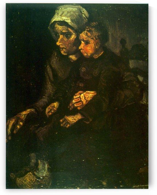 Child on Lap by Van Gogh by Van Gogh