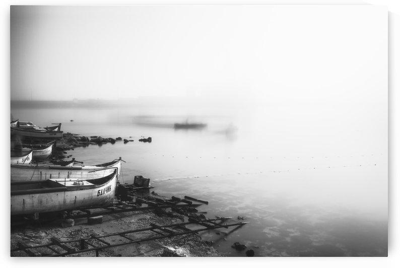 Foggy fishing port by Pavel Gospodinov