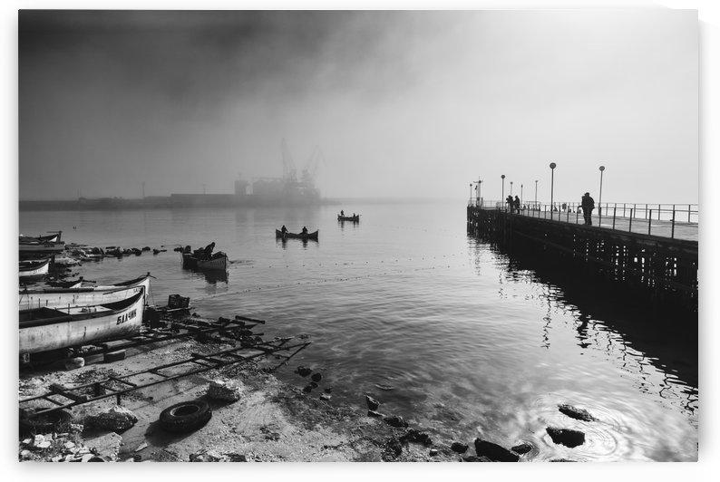 Stormy weather at Balckik port by Pavel Gospodinov