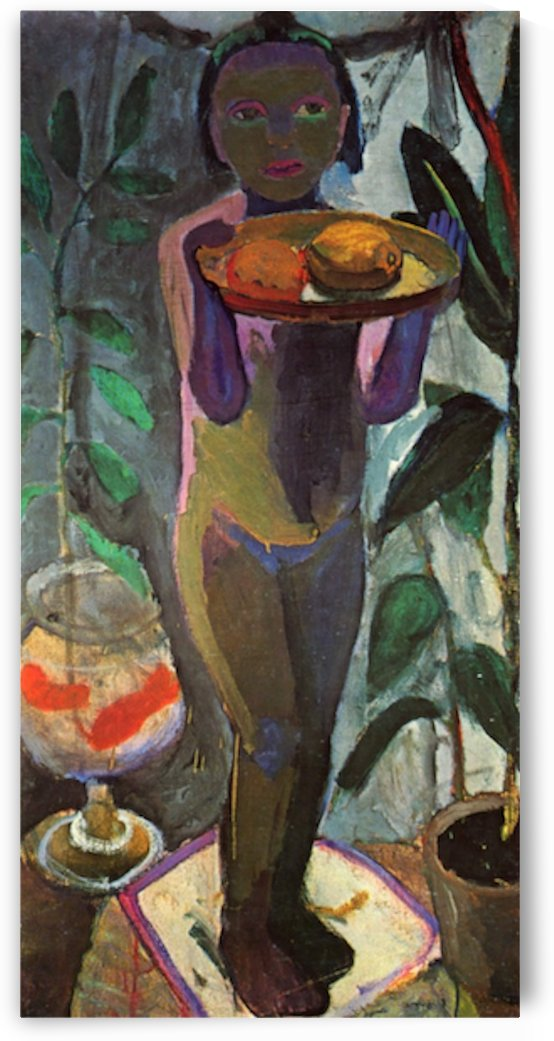 Child with goldfish glass by Paula Modersohn-Becker by Paula Modersohn-Becker