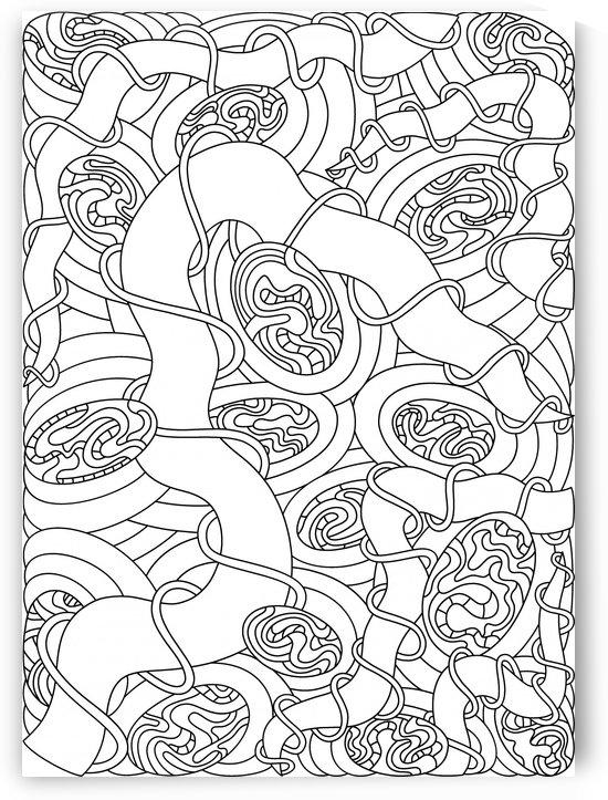 Wandering 04: black & white line art by Dream Ripple