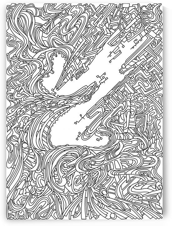Wandering 05: black & white line art by Dream Ripple
