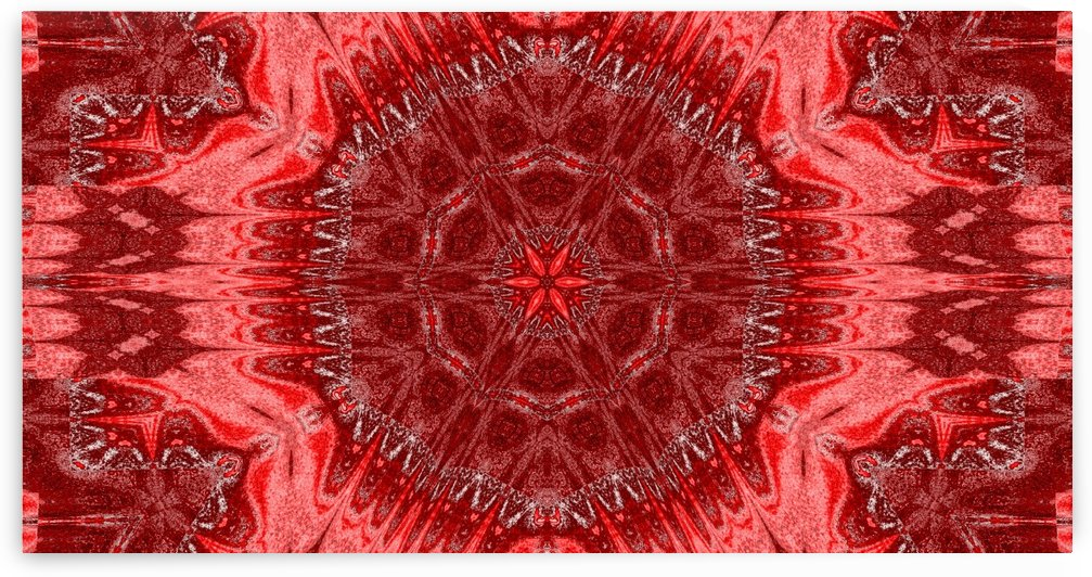 Red Star Flower Tapestry by Sherrie Larch
