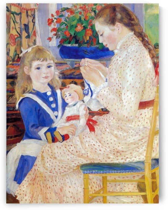 Children in the afternoon in Wargemont  (Detail) by Renoir by Renoir