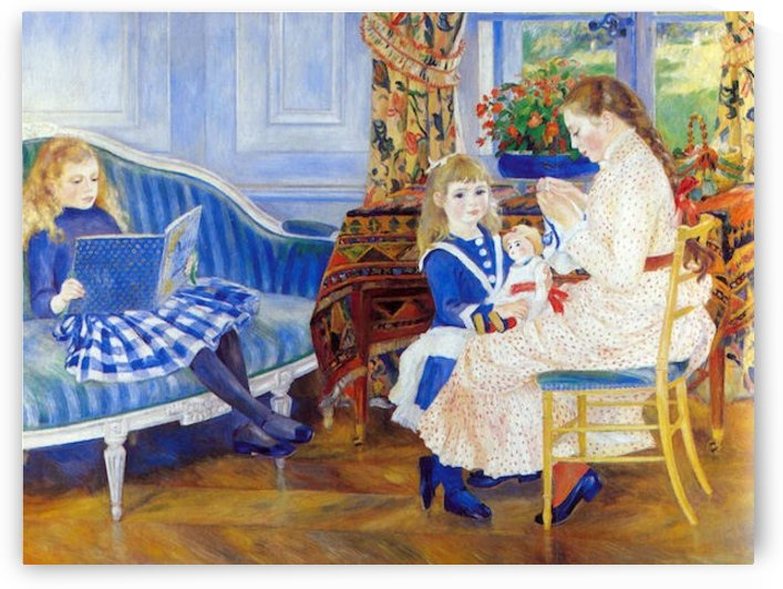 Children in the afternoon in Wargemont by Renoir by Renoir