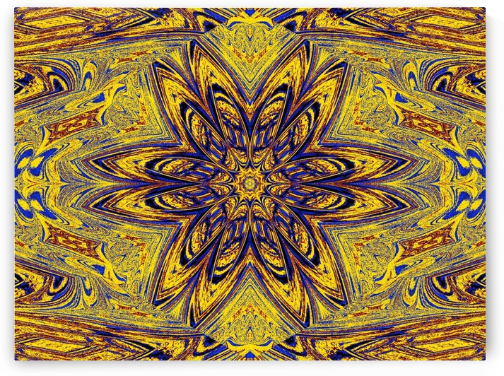 Yellow Blue Daisy 1 by Sherrie Larch