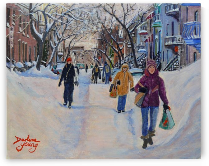 Montreal Scene Griffin Town by Darlene Young Canadian Artist