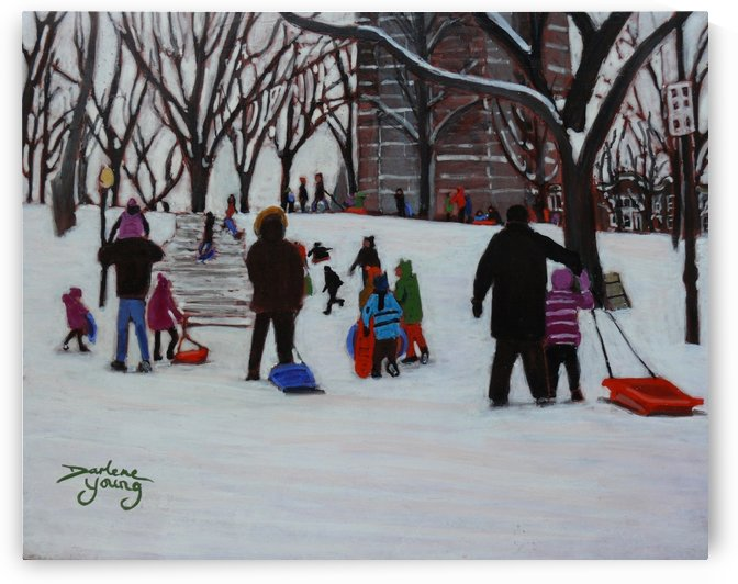Parc La Fontaine  by Darlene Young Canadian Artist