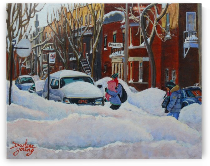 Heading Home McGill Ghetto by Darlene Young Canadian Artist