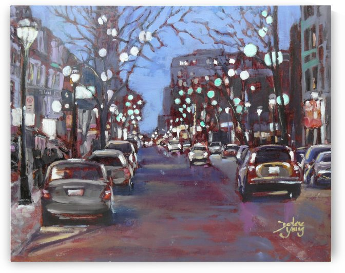 Rue St Denis by Darlene Young Canadian Artist