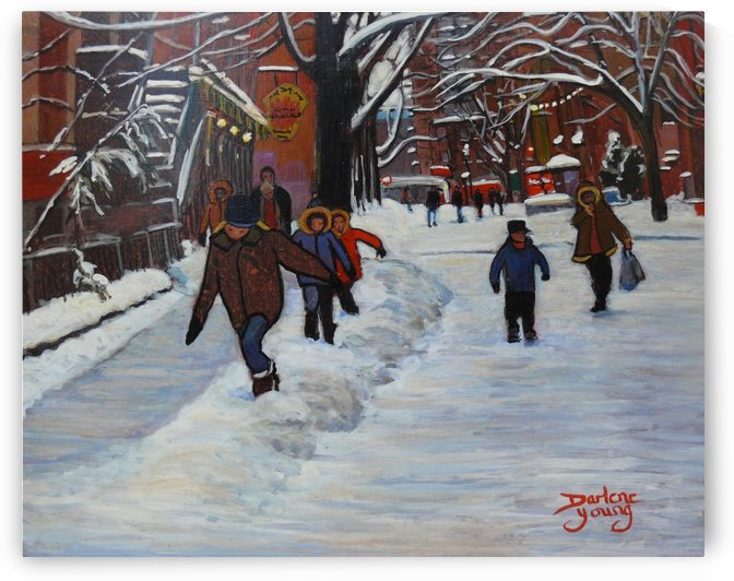 Le Plateau Kids by Darlene Young Canadian Artist