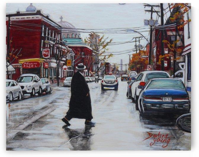 St-Viateur Street by Darlene Young Canadian Artist
