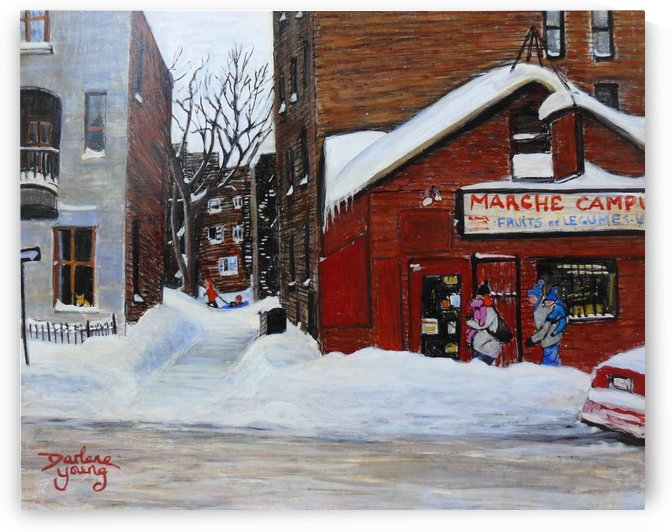 Marche Campus McGill Ghetto Montreal by Darlene Young Canadian Artist