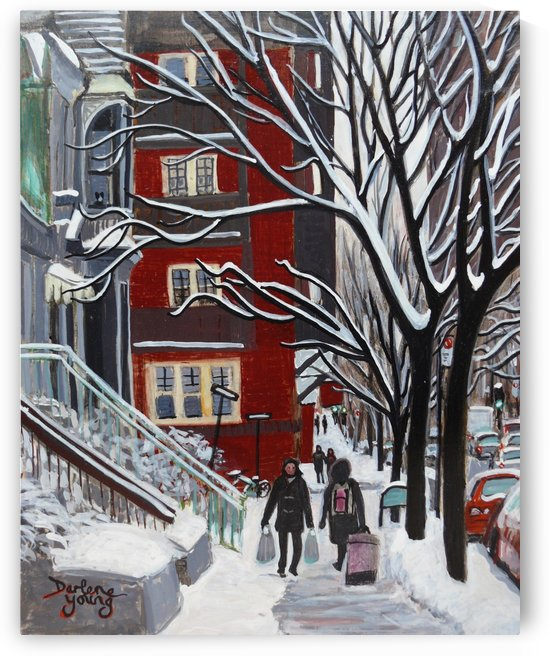 Aylmer Street McGill Ghetto by Darlene Young Canadian Artist