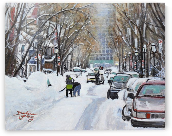 Digging Out McGill Ghetto by Darlene Young Canadian Artist