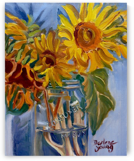 Sunflowers by Darlene Young Canadian Artist