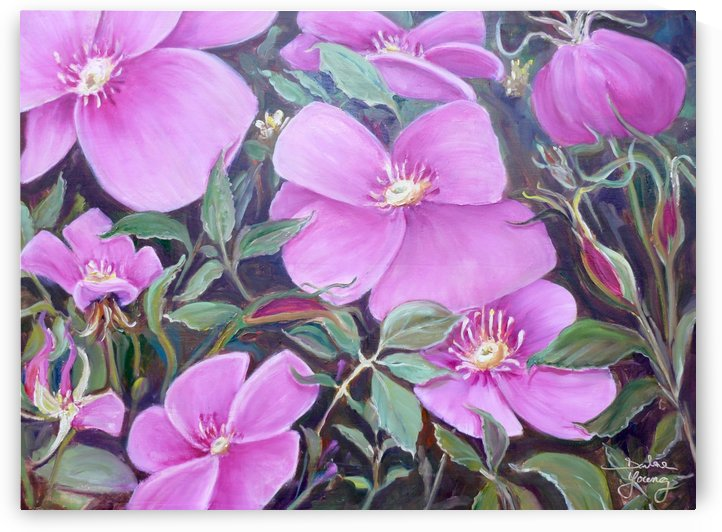 Wild Roses by Darlene Young Canadian Artist