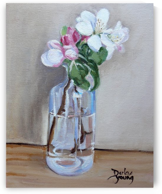 Apple Blossoms in a Jar by Darlene Young Canadian Artist
