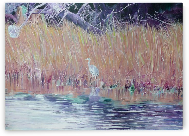 Great Blue Heron by Darlene Young Canadian Artist