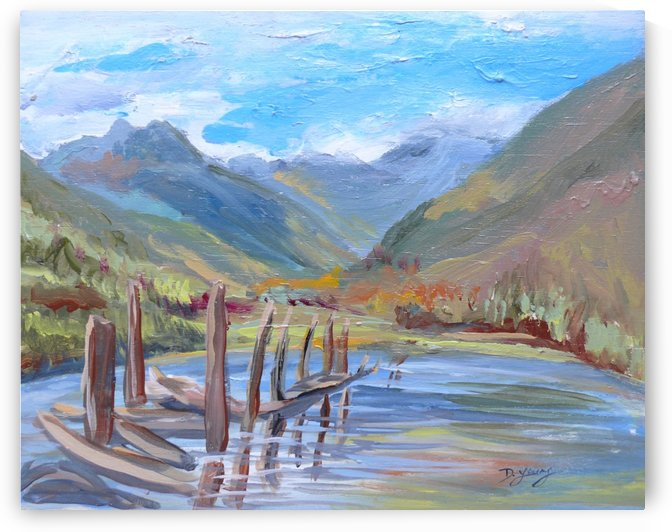 St Mary Lake by Darlene Young Canadian Artist