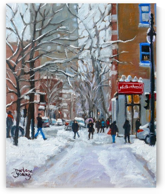 Le Plateau Mont Royal by Darlene Young Canadian Artist