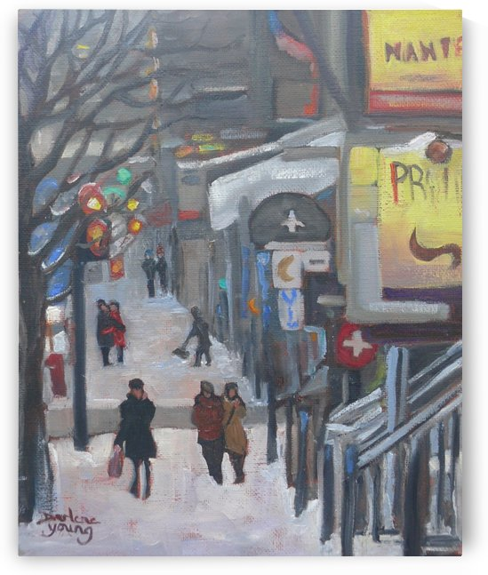 Crescent Street by Darlene Young Canadian Artist