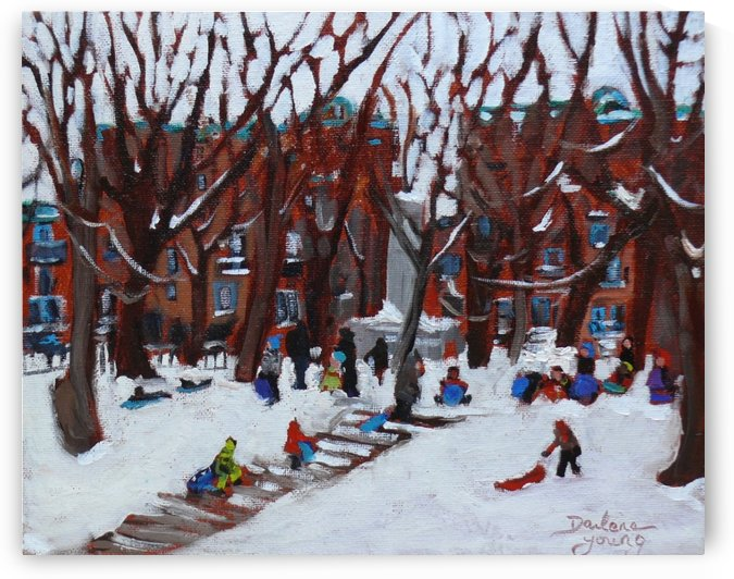 Park La Fontaine by Darlene Young Canadian Artist