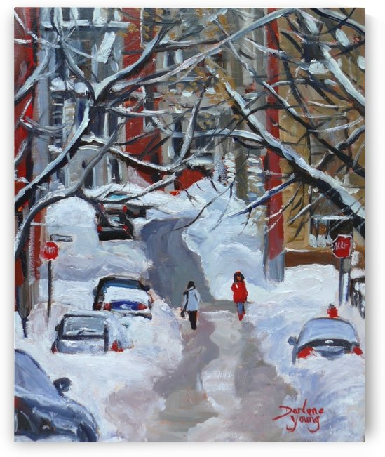 Lorne Avenue McGill Ghetto by Darlene Young Canadian Artist
