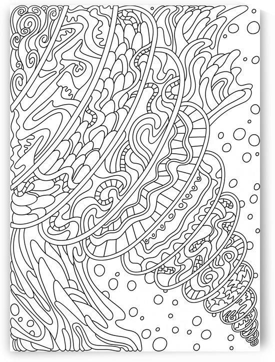 Wandering 11: black & white line art by Dream Ripple