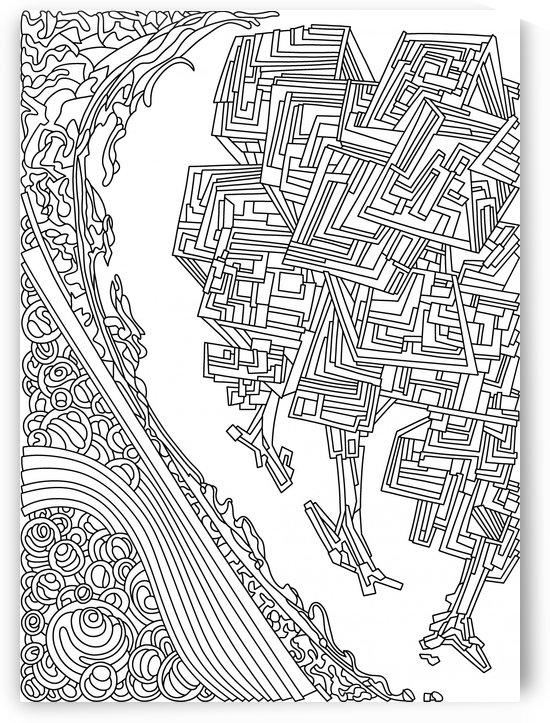 Wandering 12: black & white line art by Dream Ripple