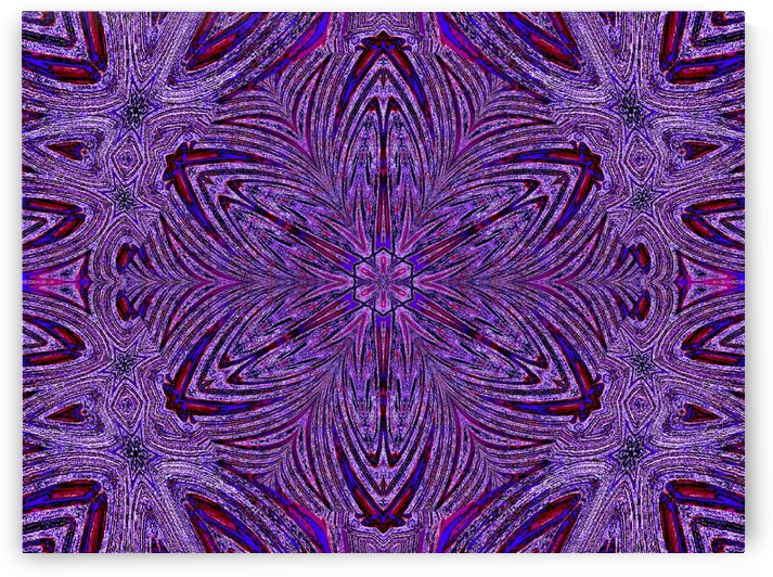 Purple Psychedelic Trip Flower by Sherrie Larch
