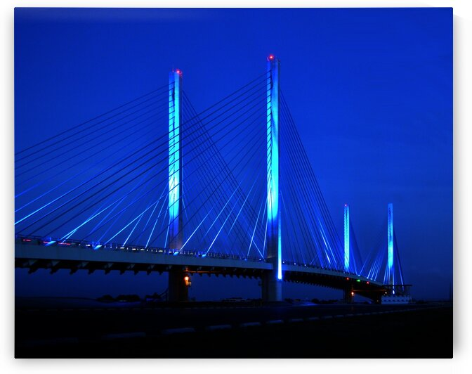 Indian River Bridge Night View by Bill Swartwout Photography