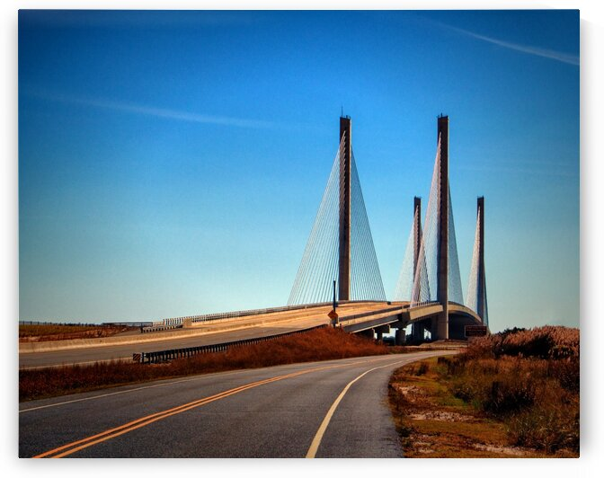 Indian River Bridge North Approach by Bill Swartwout Photography