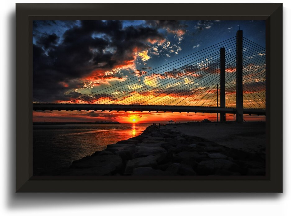Sunset Bridge at Indian River Inlet by Bill Swartwout Photography