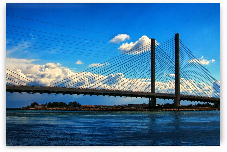 South Stanchions of the Indian River Inlet Bridge by Bill Swartwout Photography