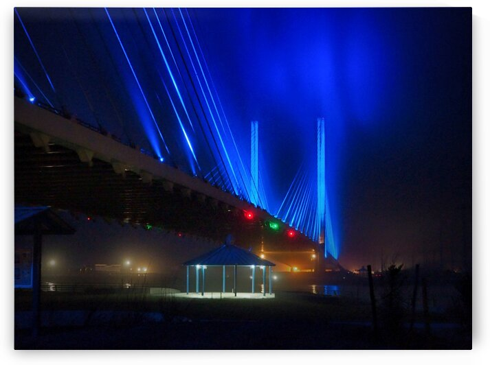 Foggy Night at the Indian River Bridge by Bill Swartwout Photography