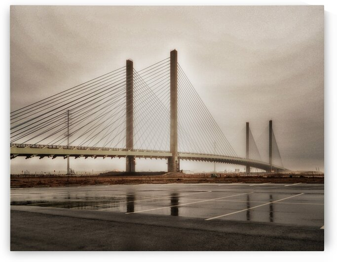 Foggy Day at the Indian River Bridge by Bill Swartwout Photography