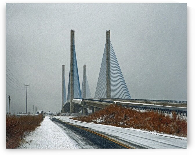 Winter at the Indian River Inlet Bridge by Bill Swartwout Photography
