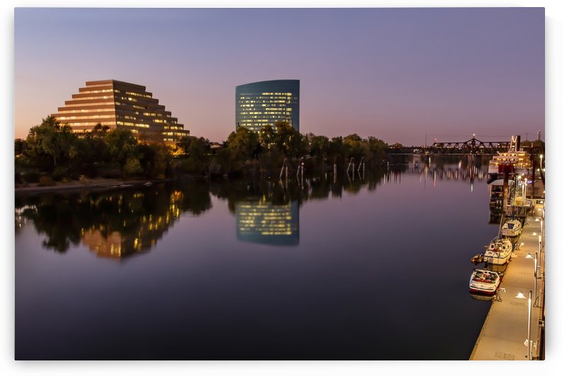 Sacramento Riverfront Sunset by Gary Geddes